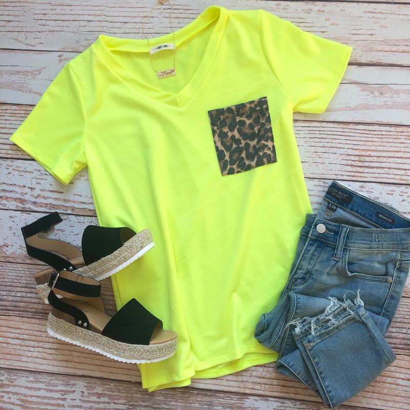Neon Surprise Top In Yellow
