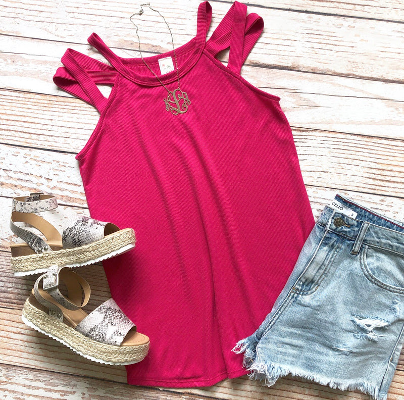 Summer Horizon Top In Fuchsia