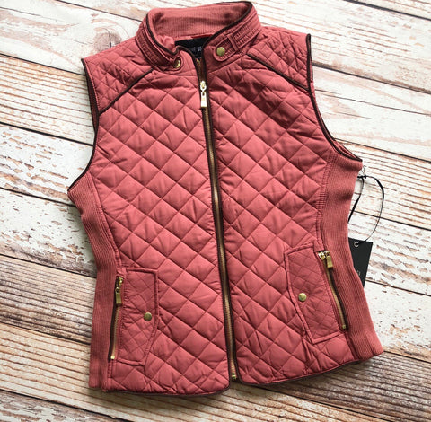 Essential Things Vest in Dusty Pink