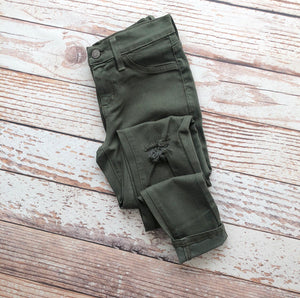 Kan Can Milley Skinny Jeans In Olive