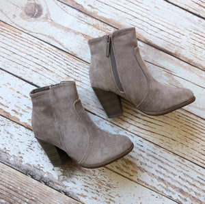 Not Average Booties in Taupe