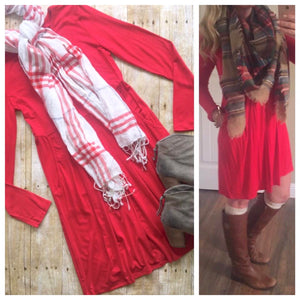 Wear Everywhere Dress in Red