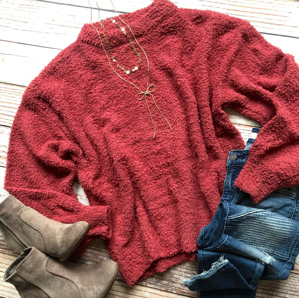 Yummy Softness Sweater In Brick