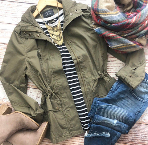 Happy Harvest Jacket in Olive
