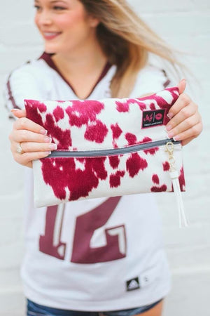 Makeup Junkie Maroon Out Bag