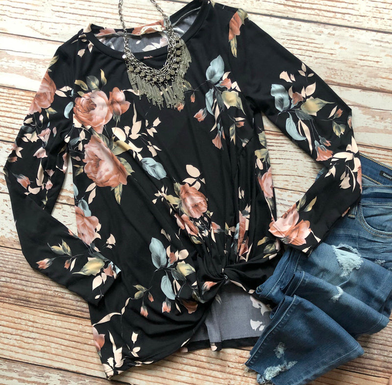 Flowers Everywhere Floral Top