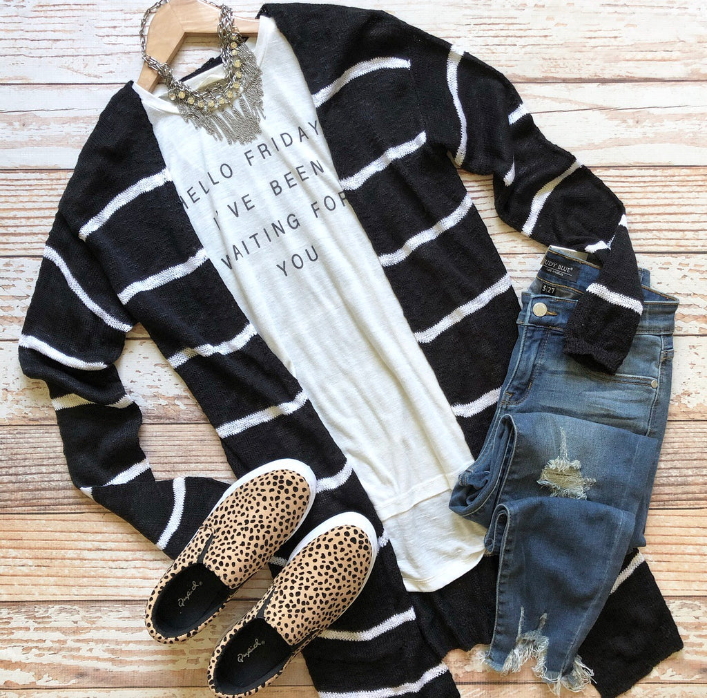 Mila Striped Cardigan