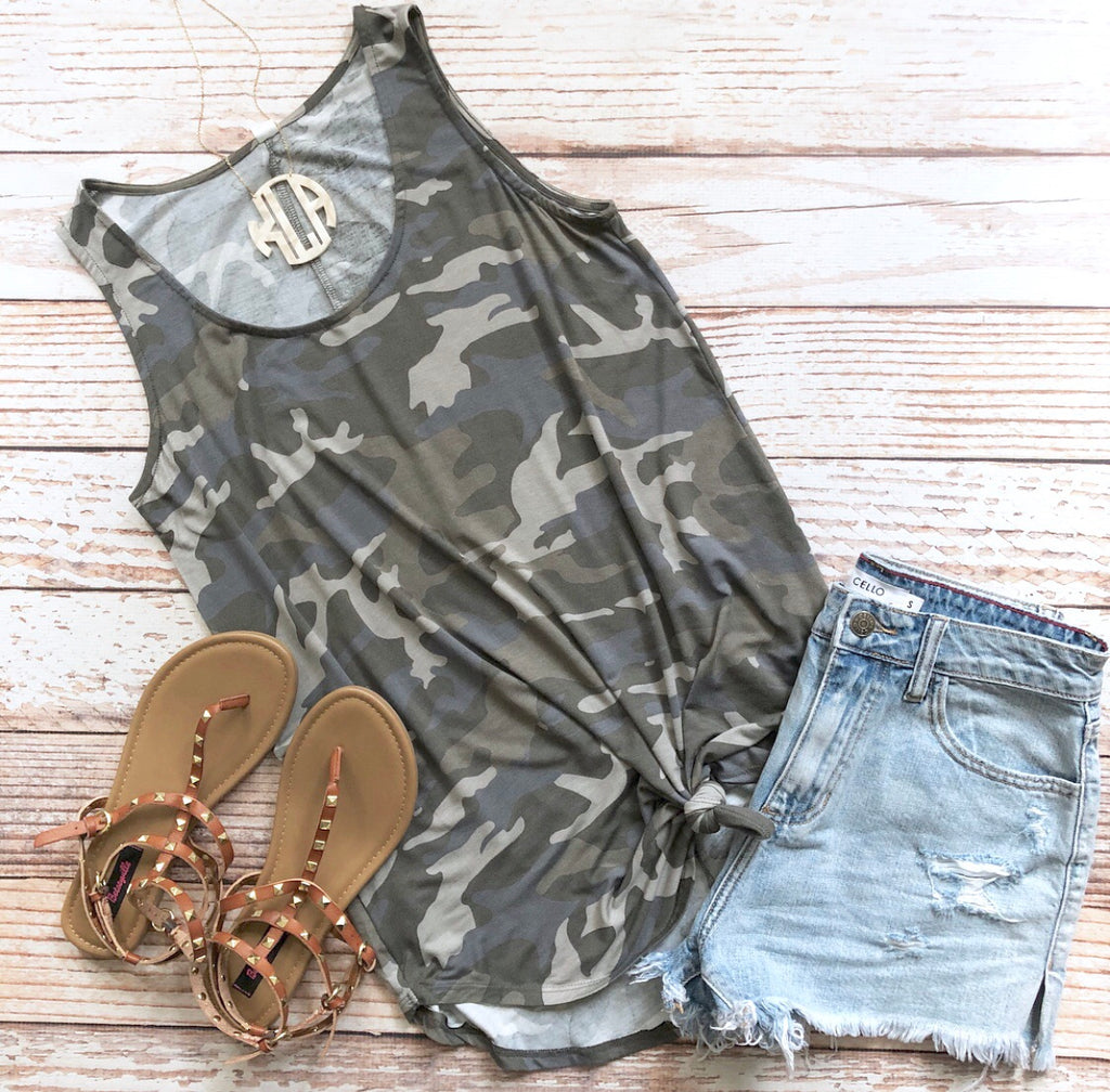 Sherbert Basic Tank In Camo