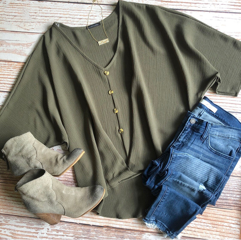 Fall Spice Top In Olive