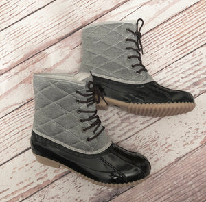 Pucker Up Quilted Duck Boot