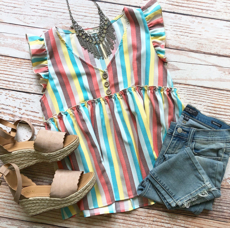 Inspiration Striped Top