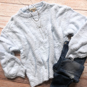 Yummy Softness Sweater In Icy Blue