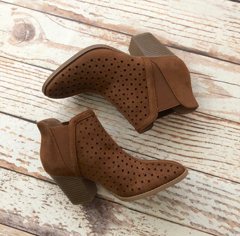 Cali Perforated Bootie