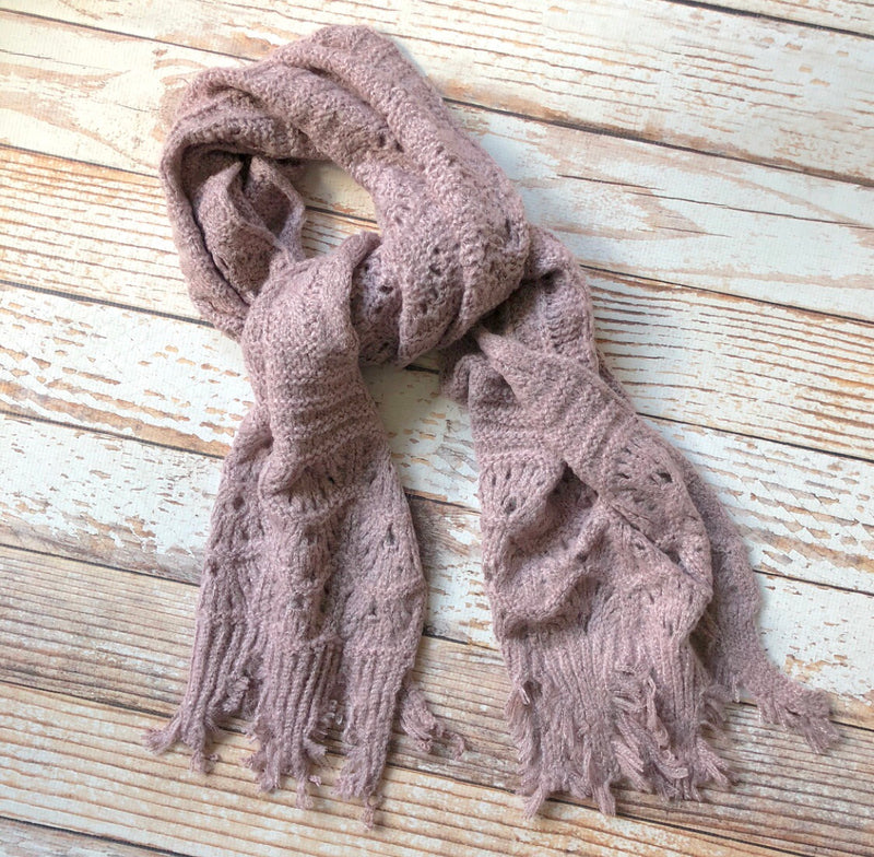 Timing Scarf In Mauve