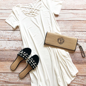 Cutie Casual Dress in Ivory