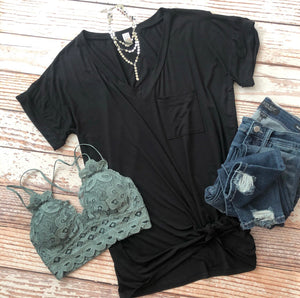 Keeping It Simple Tee In Black