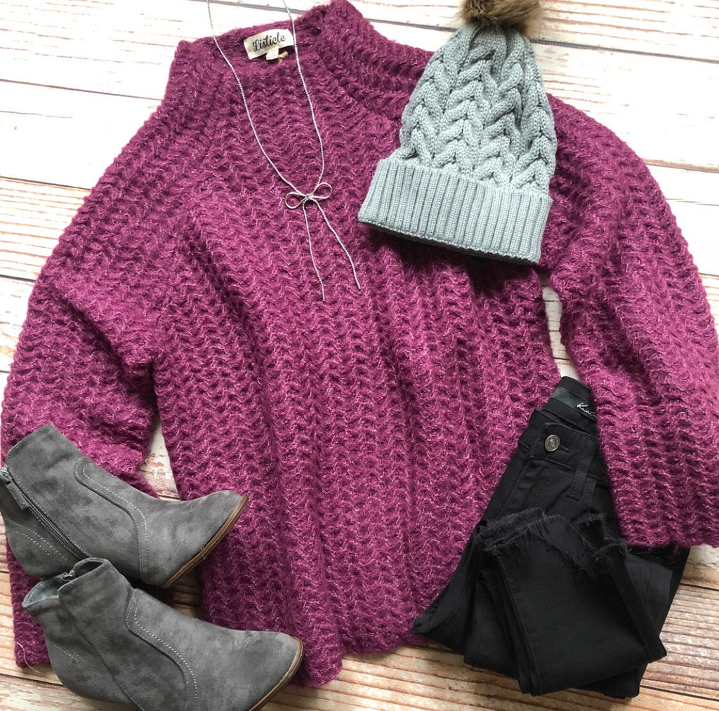 Annie Sweater In Plum