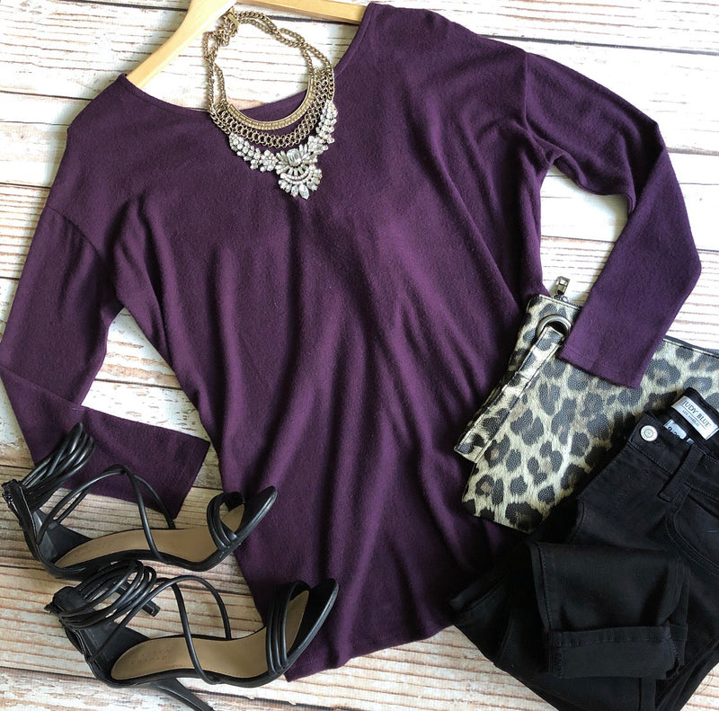 Forever Francis Top In Eggplant