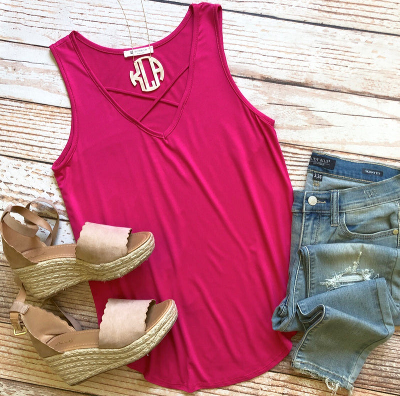 Heart To Heart Top In Fuchsia