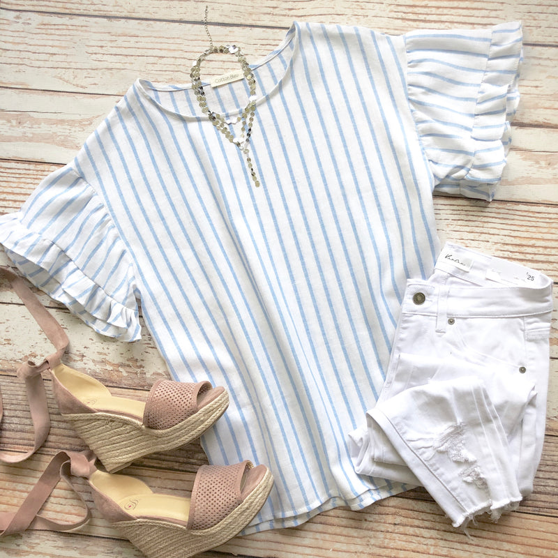 Melrose Striped Top