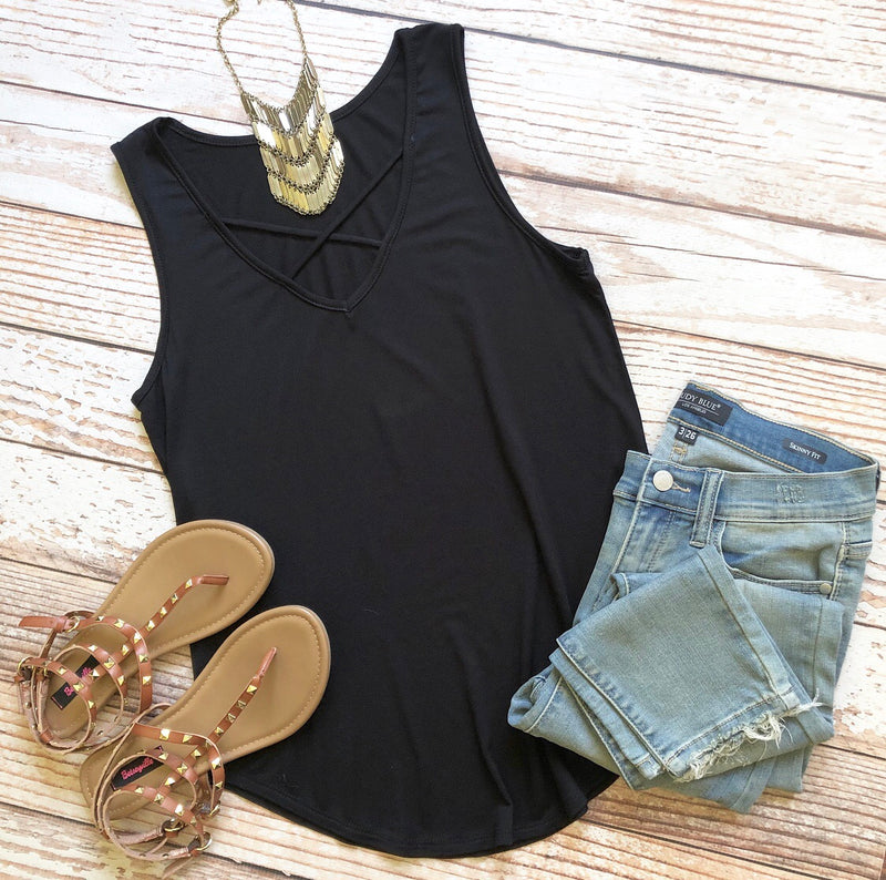 Heart To Heart Top In Black