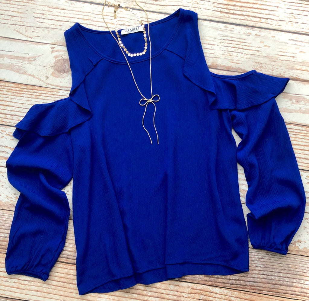 Lori Top In Royal Blue