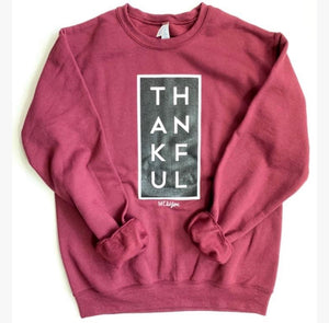 Thankful Sweatshirt In Cranberry