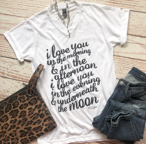 Love You In The Morning Tee In White