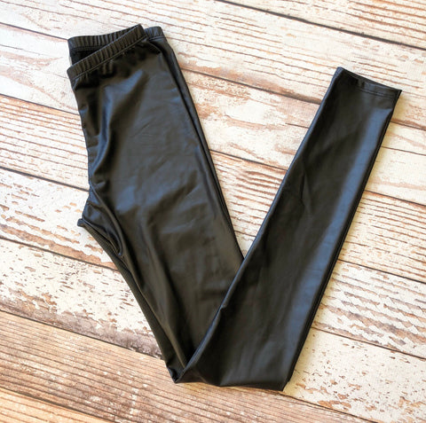 Forever Date Night Faux Leather Leggings