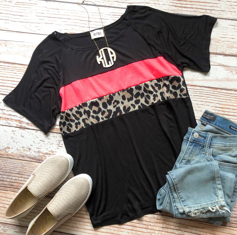 Leopard Cutie Top In Black
