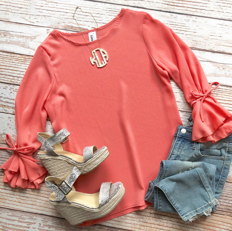 Working Girl Top In Coral