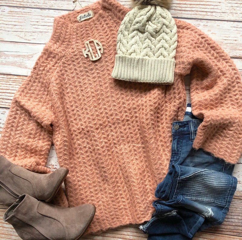 Annie Sweater In Dark Blush