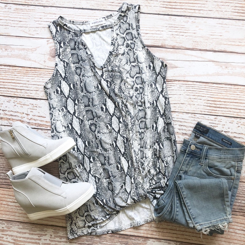 Sneaky Snake Sleeveless Top