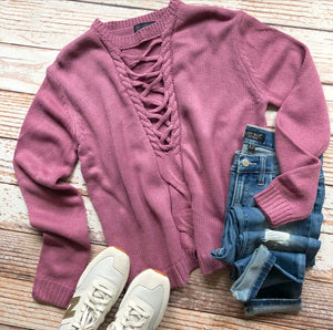 Miley Sweater In Vintage Rose
