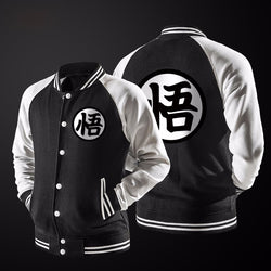 Dragon Ball Z Goku Kanji Black Varsity Jacket