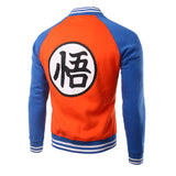 Dragon Ball Z Goku Kanji Orange Varsity Jacket
