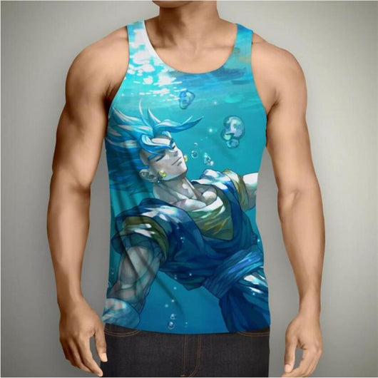 Goku Super Saiyan Blue Underwater Tank Top