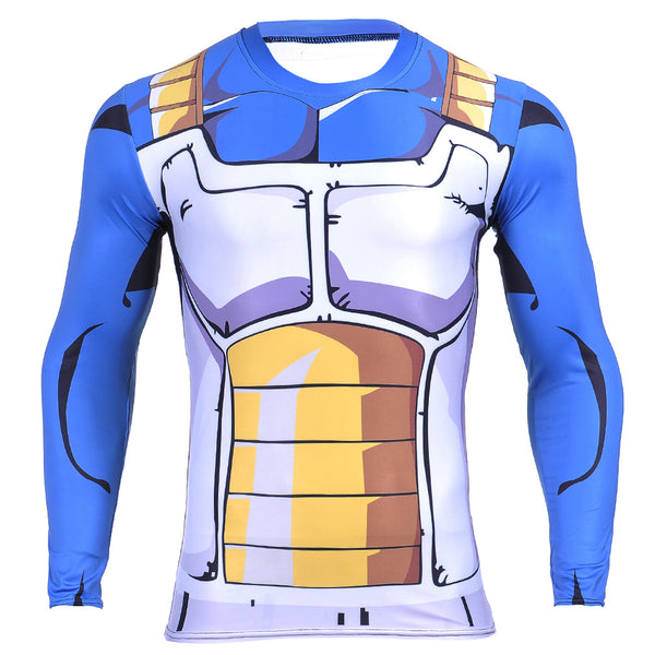Vegeta Cell Armor Long Sleeve Skin Compression Shirt