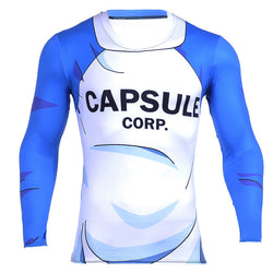 Capsule Corp Long Sleeve Skin Compression Shirt