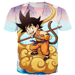 Kid Goku Flying Nimbus  Dragon Ball T-Shirt