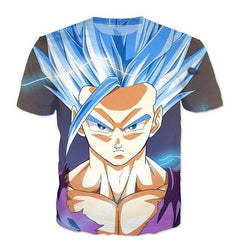 Goku Super Saiyan God Blue 3D T-Shirt