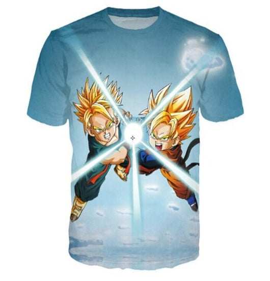 Goten and Trunks Friend Kamehameha Super Saiyan 3D T-Shirt