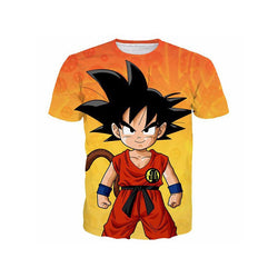 Young Kid Goku 3D Printed T-Shirt