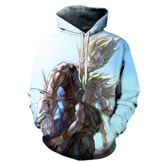 Majin Vegeta and Trunks Super Saiyan Father and Son Hoodie