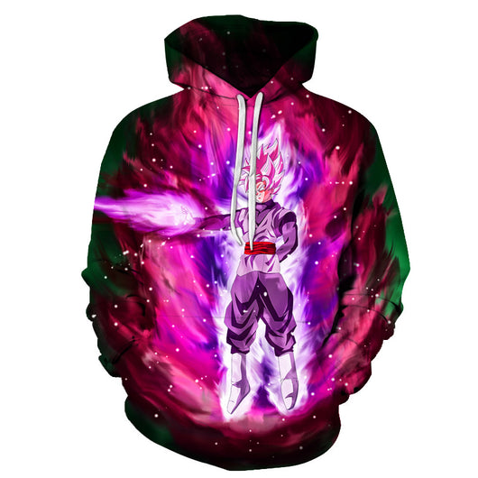 Goku Black Super Saiyan Rosé Purple Aura Hoodie
