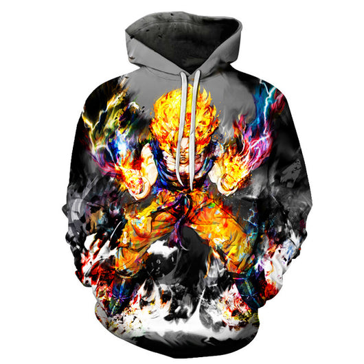 Goku Super Saiyan Unleashed Power Hoodie