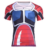 Raditz (Goku's Brother) Frieza Force Saiyan Army Battle Armor Compression T-Shirt