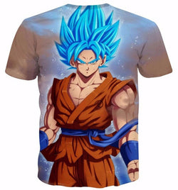 Goku Super Saiyan Blue Powerful 3D T-Shirt