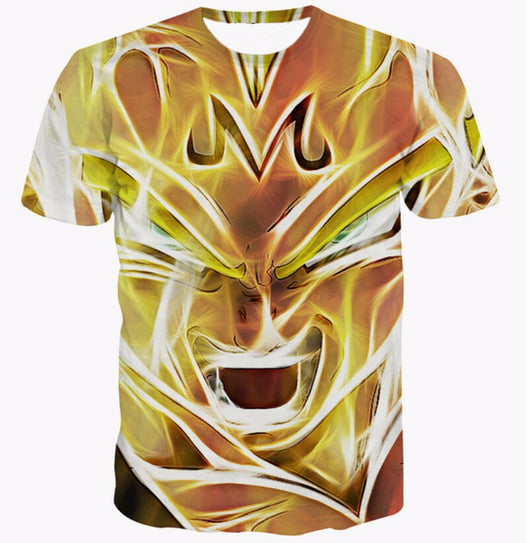 Dragon Ball Z Majin Vegeta Super Saiyan 3D T-Shirt