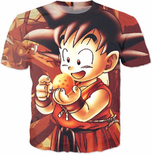 Kid Goku 7 Star Dragon Ball 3D T-Shirt